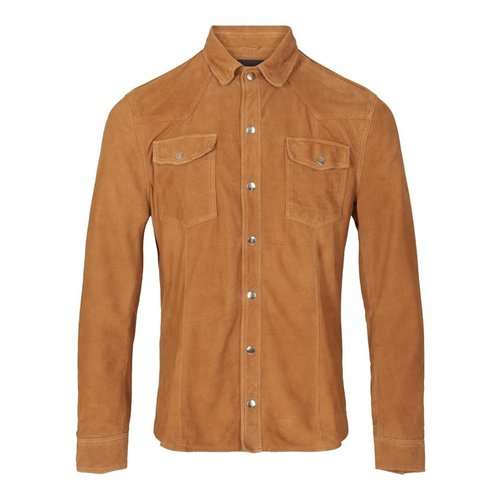 Goosecraft Goosecraft Appold shirt goat suede cognac