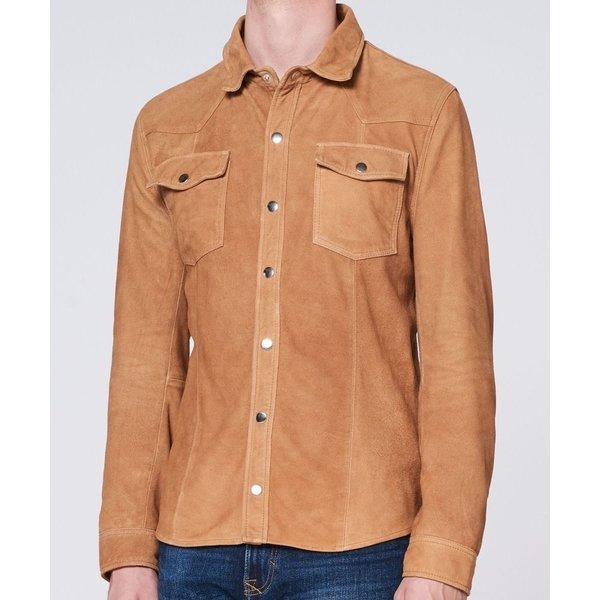 Goosecraft Appold shirt goat suede cognac