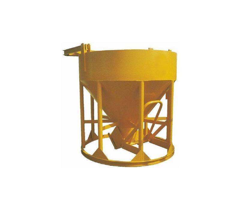 Kubel 750 liter staand met stortslang