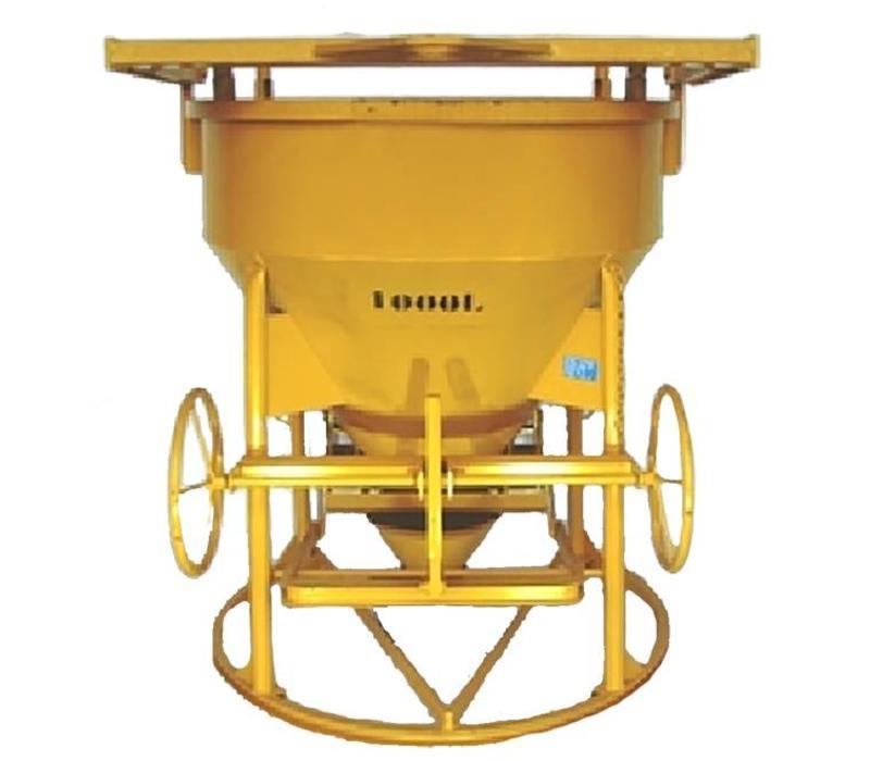 Kubel 1000-1500 liter staand met doseerwiel