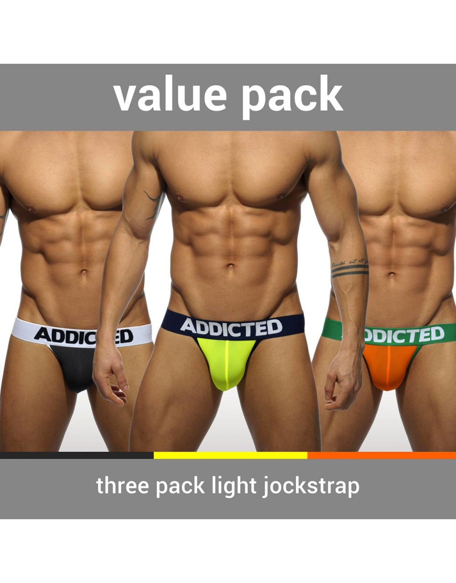 Addicted ADDICTED Three Pack Light Jockstrap