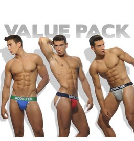 Addicted ADDICTED Three Pack Basic Jockstrap