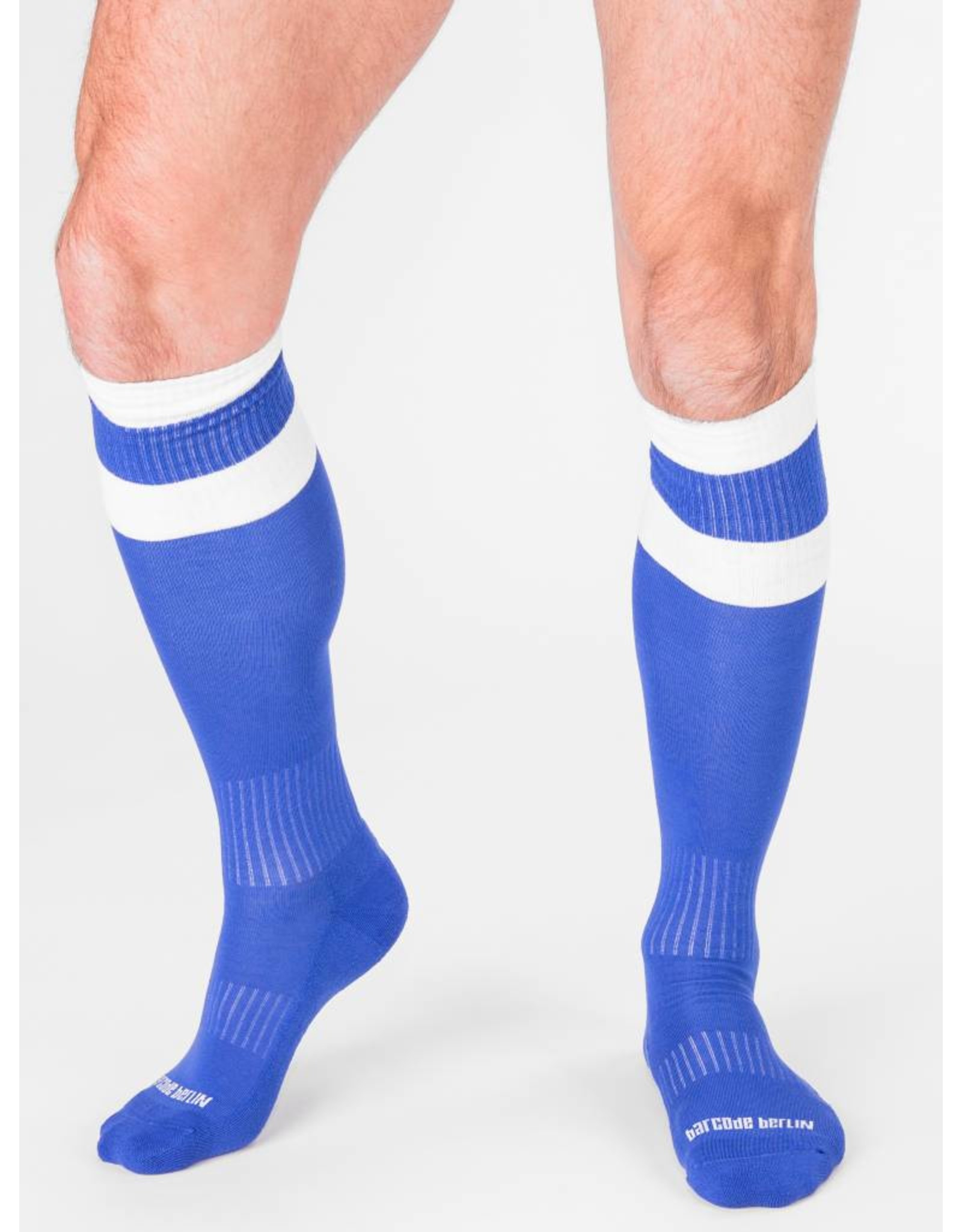 Barcode Berlin Barcode Berlin Football Socks bleu- blanc