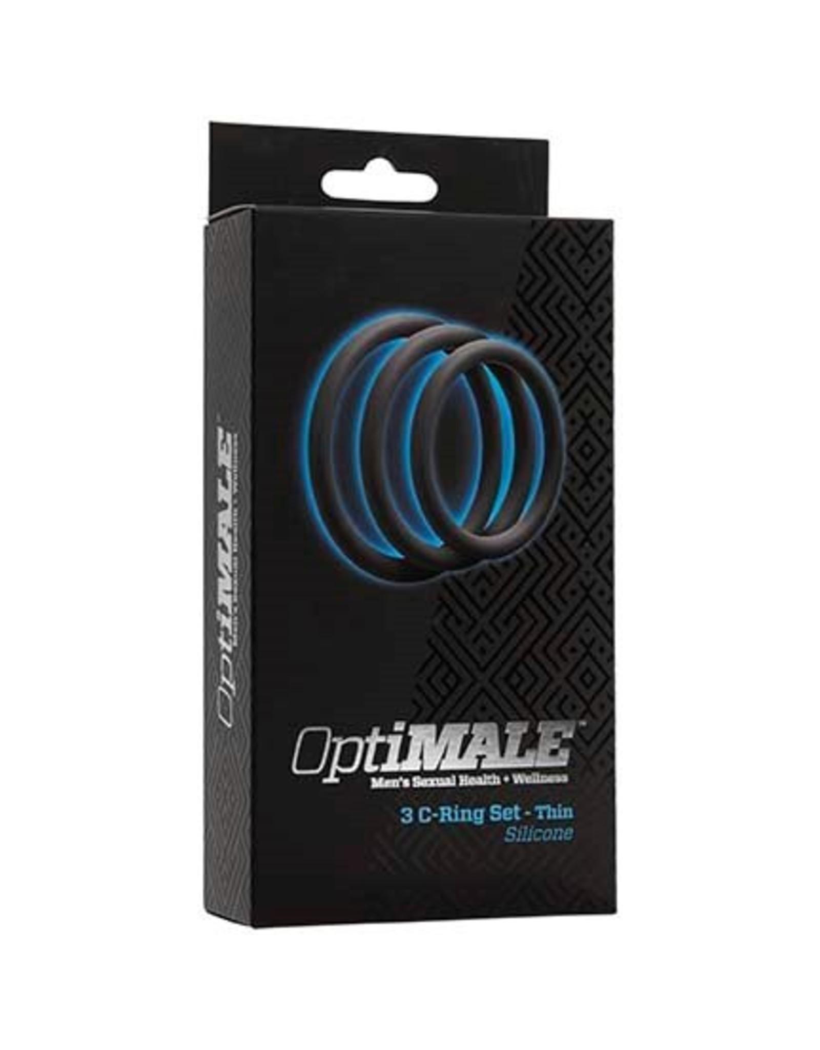 Cockringe OptiMALE 3er Set Thin gris