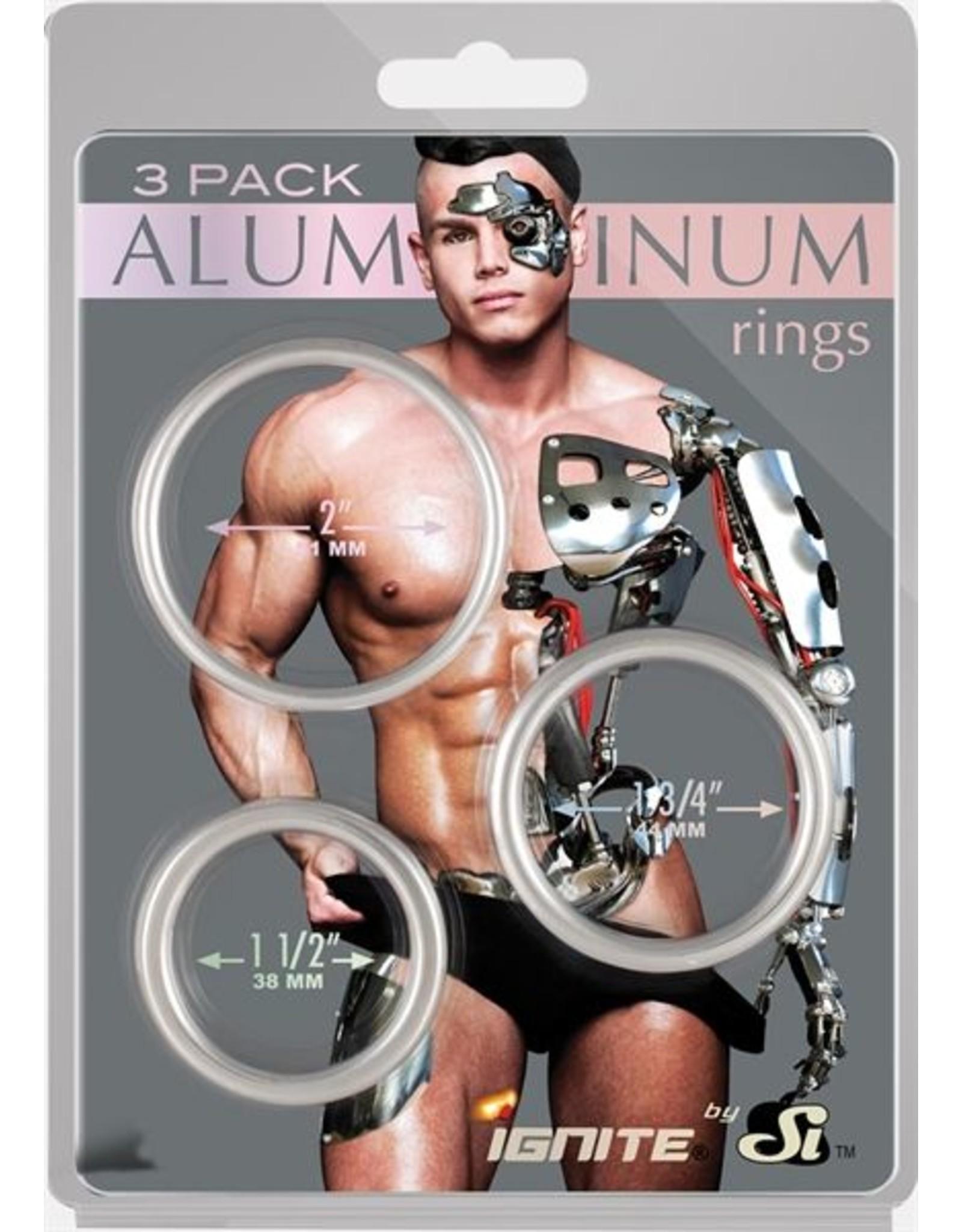 Aluminium Cock Ring 3er Set