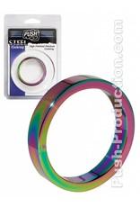 Push Steel - High Polished Rainbow Cockring