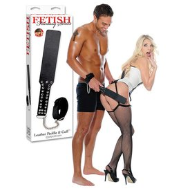 Fetish Fantasy Leather Paddle & Cuff