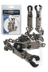 Push Xtreme Fetish - Deluxe Tit Clamps with Chain