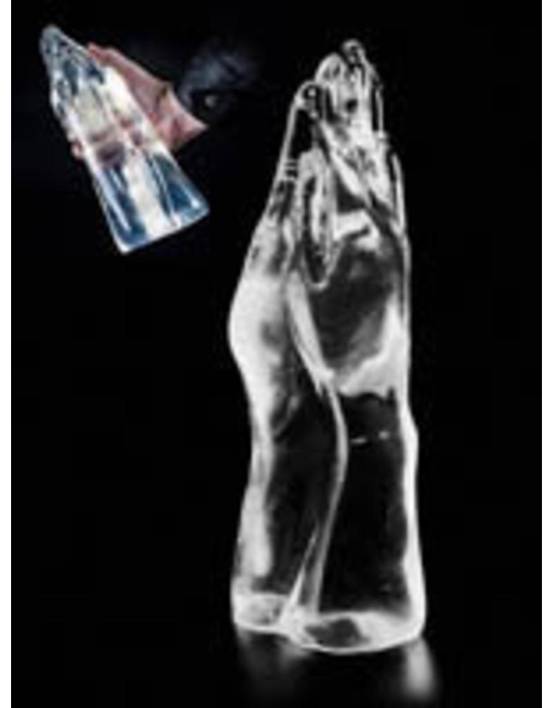 Dark Crystal Clear Double Hand Dildo DCC25