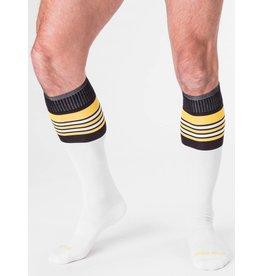 Barcode Berlin Barcode Berlin Football Socks blanc- jaune- noir