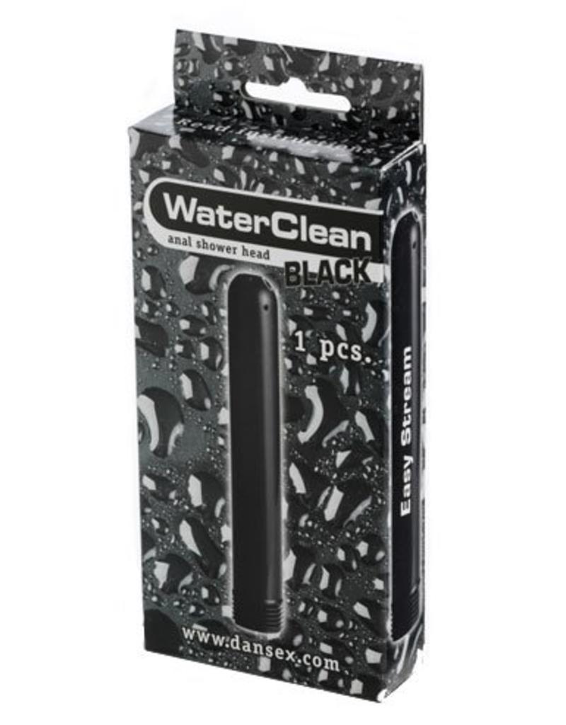 Kunststoff Analdusche gerade schwarz