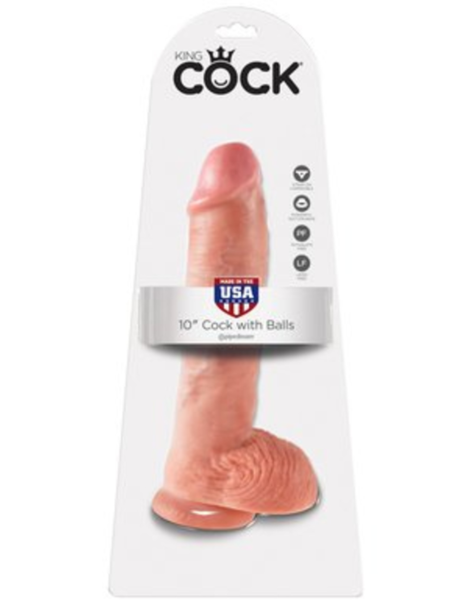 King Cock King Cock with Balls 10""