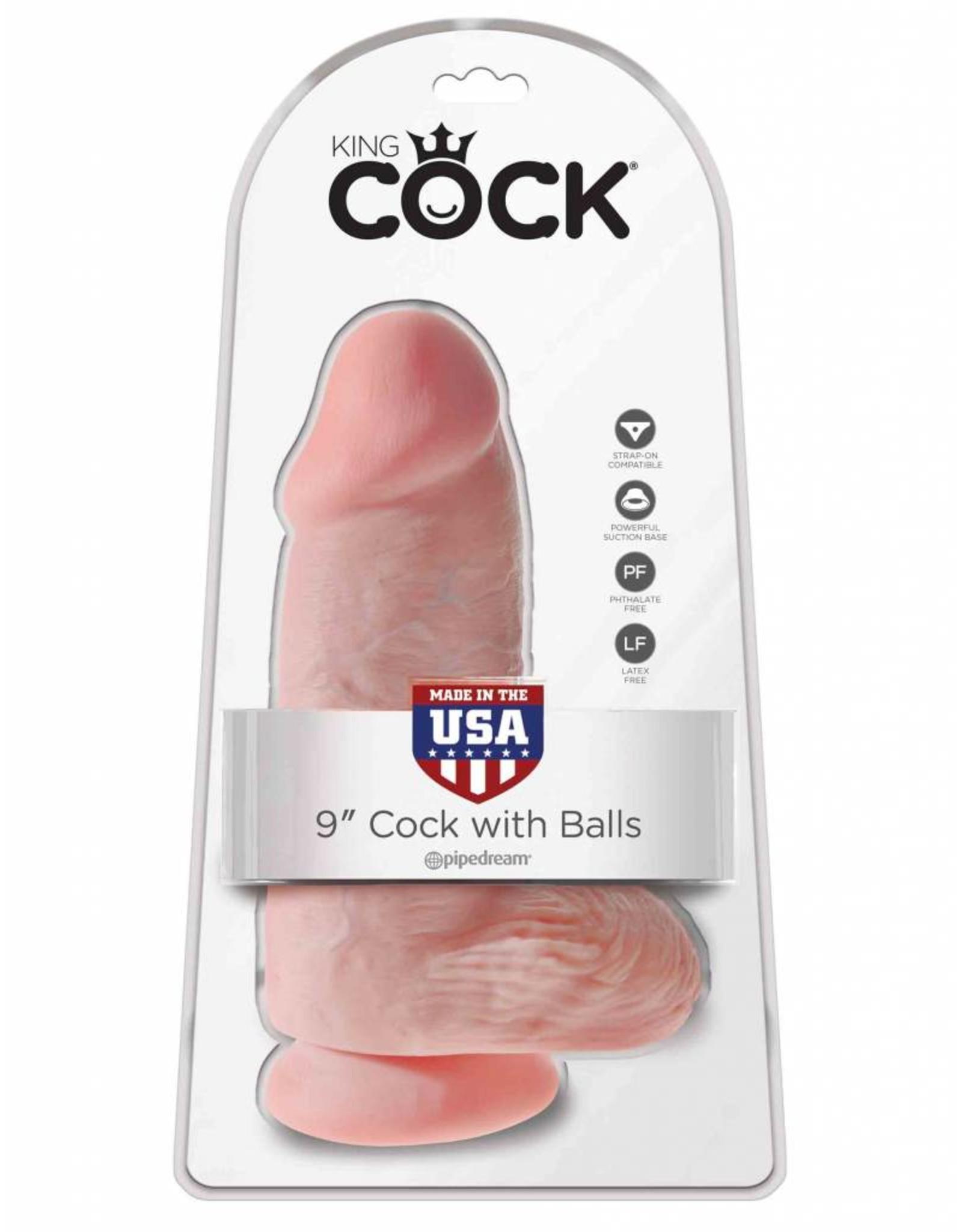 "King Cock King Cock with Balls 9"" Chubby"