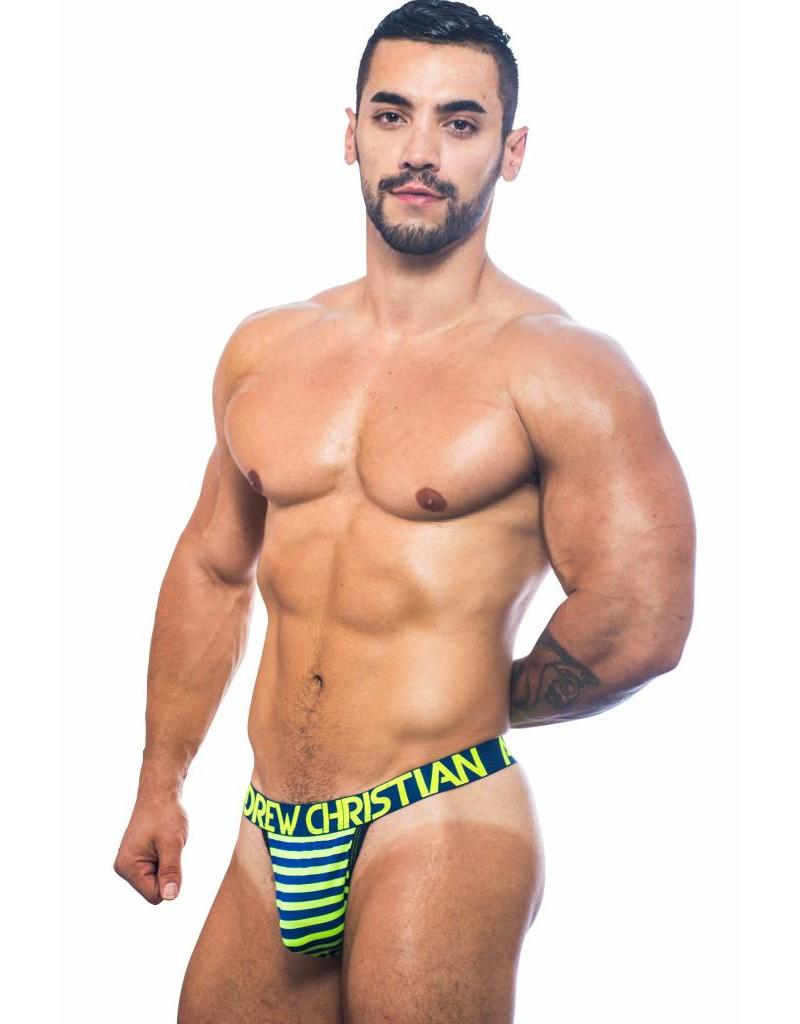 Andrew Christian Andrew Christian Almost Naked Electric Stripe Thong