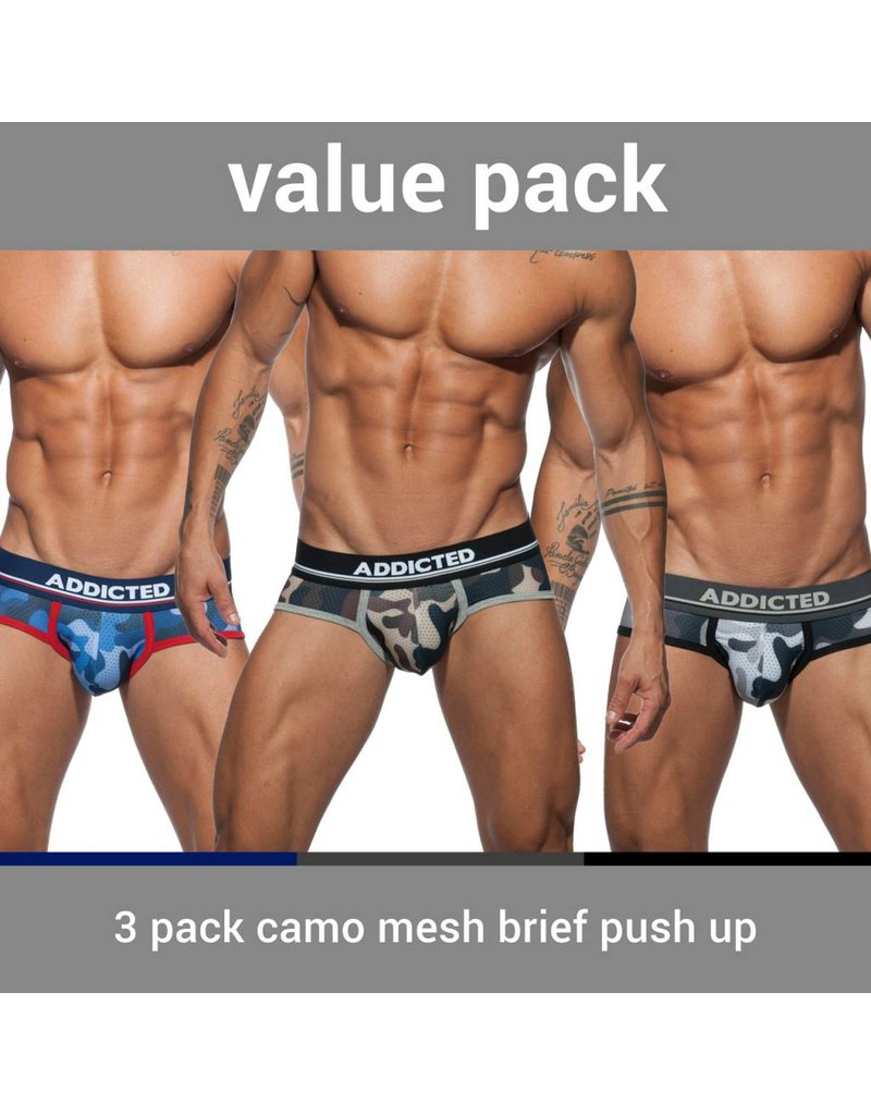 Addicted ADDICTED Three Pack Camo Brief