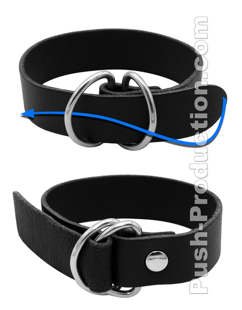 Push Xtreme Leather Chicago Cock & Ball Ring Simple Belt Strap