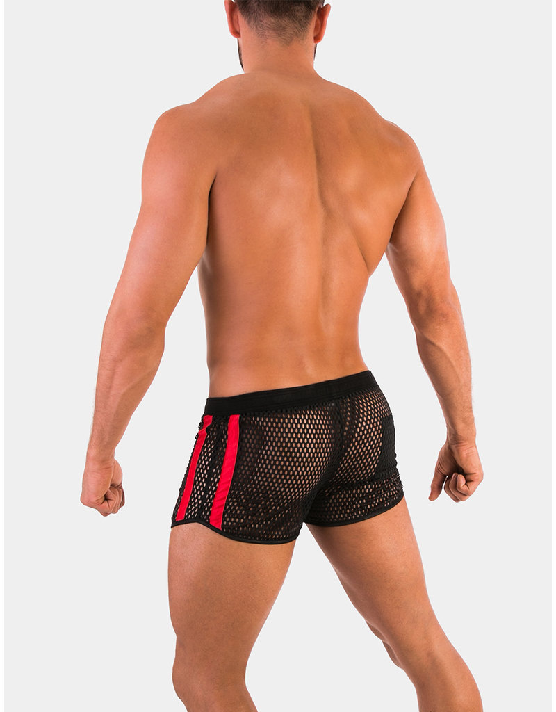 Barcode Berlin Barcode Berlin Short Easton schwarz-rot