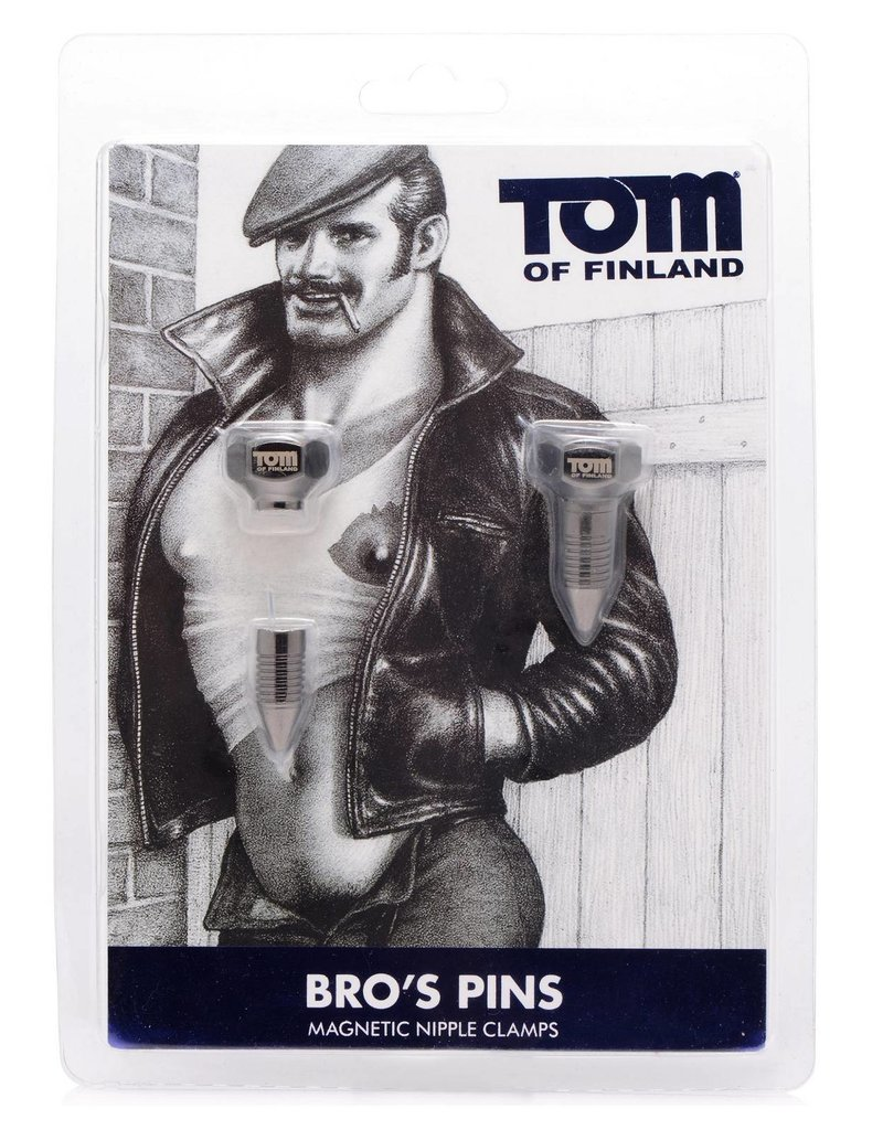 Tom of Finland Tom of Finland Bros Pins Magnetic Nippelklammern