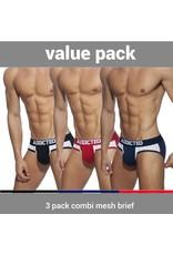 Addicted ADDICTED Three Pack Combo Mesh Brief