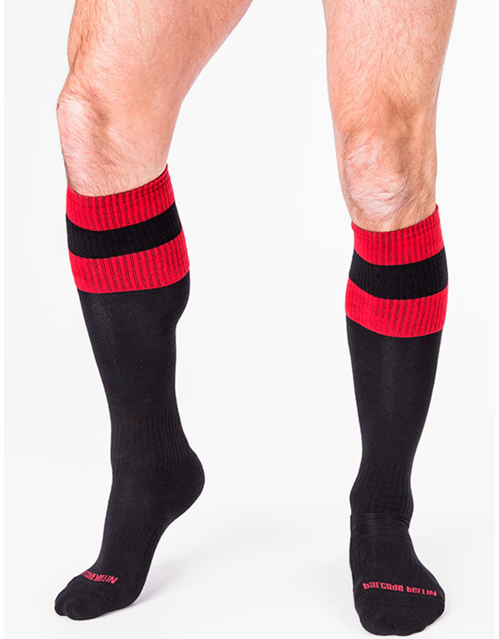 Barcode Berlin Barcode Berlin Football Socks noir - rouge
