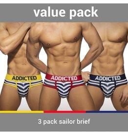 Addicted ADDICTED Three Pack Sailor Brief