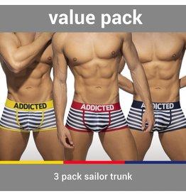 Addicted ADDICTED Three Pack Sailor Push up Boxer