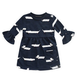 Your Wishes Puppy Ruffle Dress