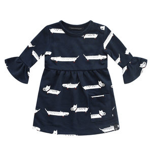 Your Wishes Puppy in the park - Blue | Ruffle Dress