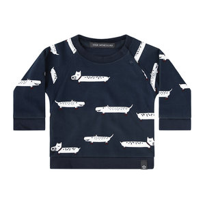 Your Wishes Puppy in the park - Blue   Sweatshirt