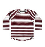 Your Wishes Stripes - Wine | Raglan Longsleeve