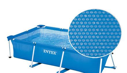 Isolerend afdekzeil (solar afdekzeil) voor rechthoekig zwembad