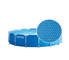 Isolerend afdekzeil (solar afdekzeil) voor rond zwembad