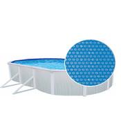 Isolerend afdekzeil voor ovaal zwembad