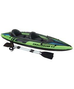 Challenger K2 - 2 pers. kayak met peddel en pomp