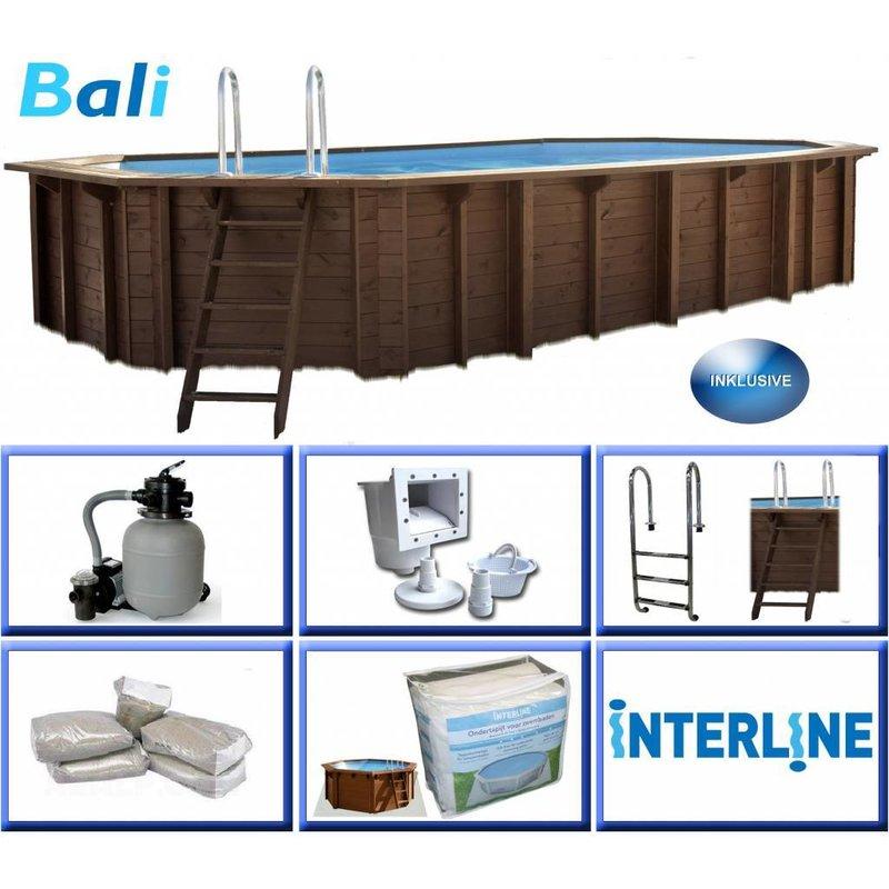Interline Zwembad Bali Ovaal met Zandfilter 840x490x136 cm