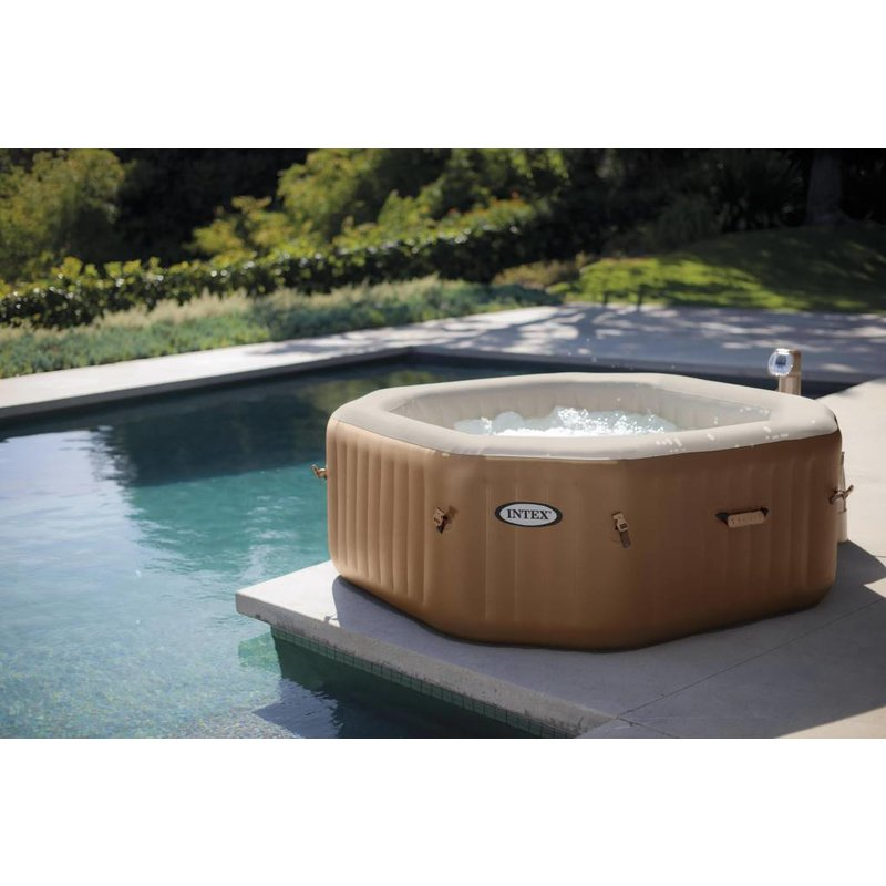 Intex PureSpa Bubble Therapy Octagon + Hard Water System 71 cm