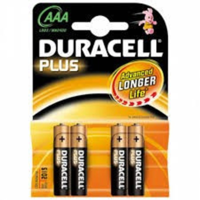 Duracell Batterijen type AAA (4 stuks)