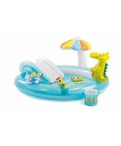 Krokodil opblaasbaar kinderspeelbad