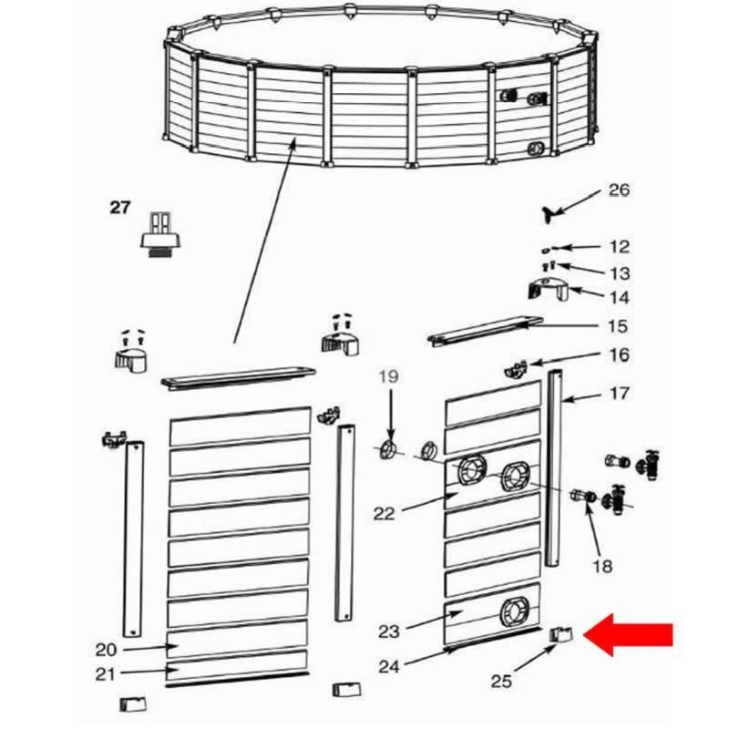 Intex sluitdop onderkant
