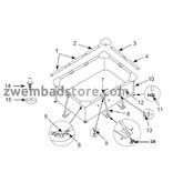 Intex verticale hoeksteun tbv 220x150x60 cm