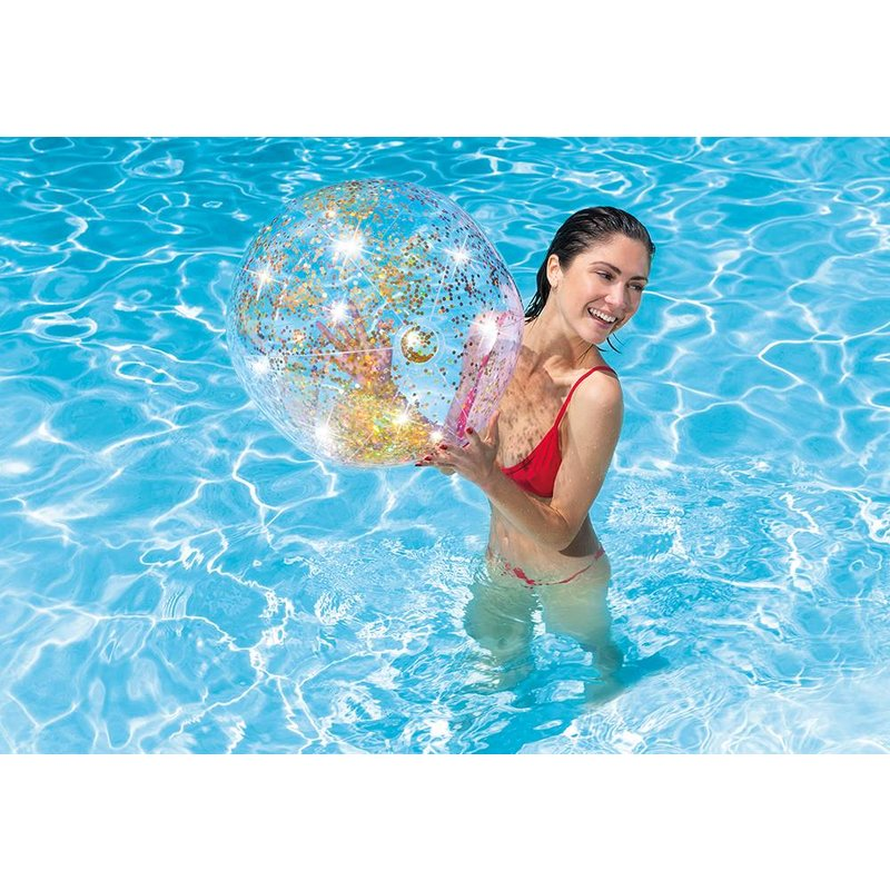 Intex Transparant Glitter Strandbal 71 cm