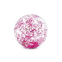 Transparant Glitter Strandbal 71 cm