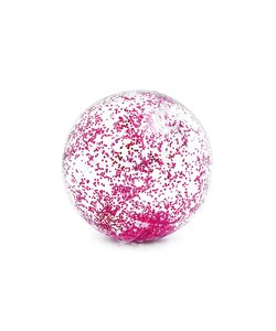 Transparant Glitter Strandbal 51 cm