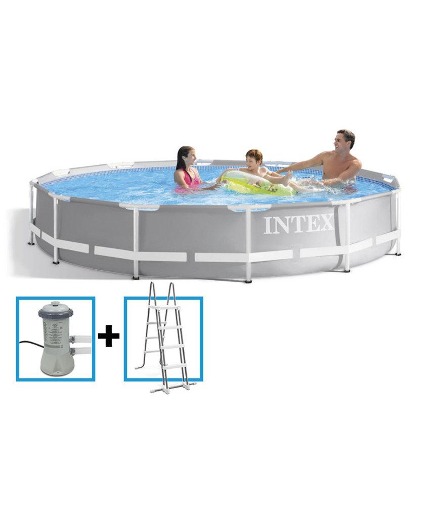 Intex Prism Frame Pool 366x99 cm met pomp