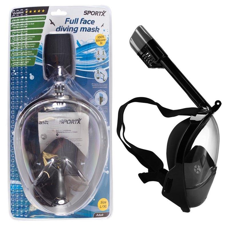SportX Duikset Full Face Black