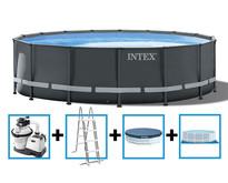 Ultra XTR Frame Pool 488x122 cm + zandfilterpomp en acc.
