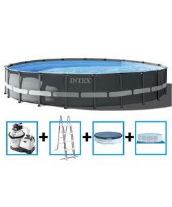 Ultra XTR Frame Pool 610x122 cm + zandfilterpomp en acc.