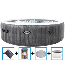 PureSpa Greywood Deluxe Bubble Therapy + HWS 6 p