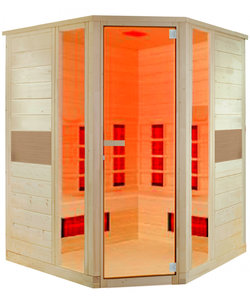 Ruby 2-persoons infraroodcabine sauna hoekmodel