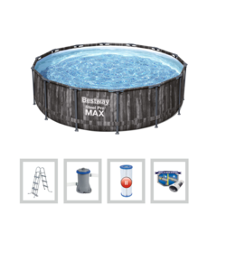 Steel Pro Max Frame Pool Houtlook 407x107 cm + filterpomp